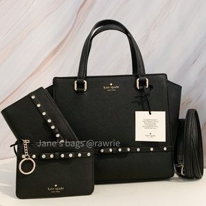 New Kate Spade 3 Piece Jeweled Small Hadlee Set